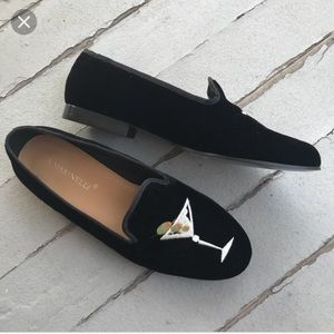 🍸 A. Marinelli Martini Velvet Loafers 🍸